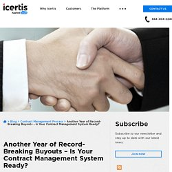 Record-Breaking Buyouts – Is Your Contract Management System Ready?