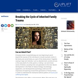 Breaking the Cycle of Family Trauma