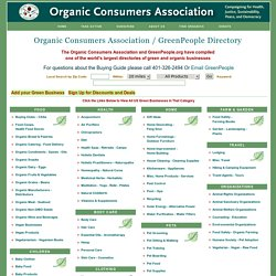 Breaking the Chains Buying Guide - A Directory of Green and Organic Businesses