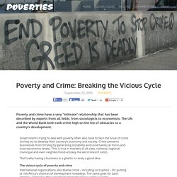 Poverty and Crime: Breaking a Vicious Cycle of Discrimination