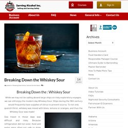 Breaking Down the Whiskey Sour
