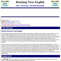 Breaking News English ESL Lesson Plan on British Museum
