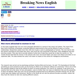 Breaking News English ESL Lesson Plan on Colour