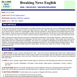 Breaking News English ESL Lesson Plan on Racism
