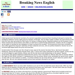 Breaking News English ESL Lesson Plan on Human Rights