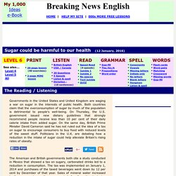 Breaking News English ESL Lesson Plan on Sugar