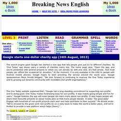 Breaking News English ESL Lesson Plan on One Today