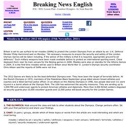 Breaking News English ESL Lesson Plan on London Olympics