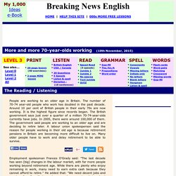 Breaking News English ESL Lesson Plan on Working