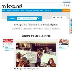 Breaking into Social Enterprise