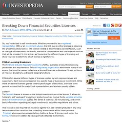 Breaking Down Financial Securities Licenses