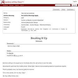 Breaking It Up - fulminata - Kuroko no Basuke