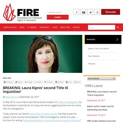 BREAKING: Laura Kipnis' second 'Title IX inquisition'
