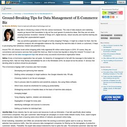 Ground-Breaking Tips for Data Management of E-Commerce Biz by Beverly McNally