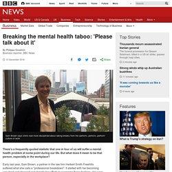 Breaking the mental health taboo: 'Please talk about it'