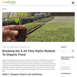Breaking the 5 All Time Myths Related To Organic Food