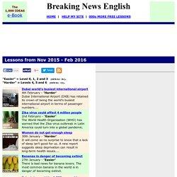 Breaking News English - Nov 2015 - Feb 2016