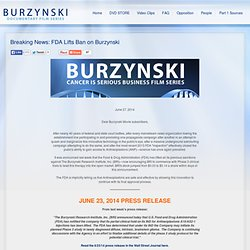 Breaking News: FDA Lifts Ban on Burzynski