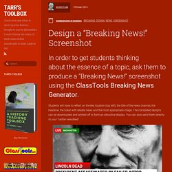 "Design a ""Breaking News!"" Screenshot"