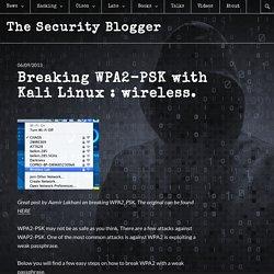 Breaking WPA2-PSK with Kali Linux