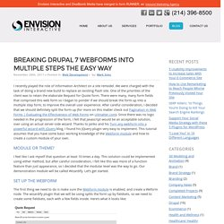 Breaking Drupal 7 Webforms into Multiple Steps the Easy Way