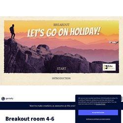 Breakout room 4-6 by Sonja Górniak on Genially