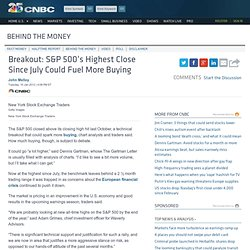 Breakout: S&P 500's Highest Close Since July Could Fuel More Buying - Fast Money