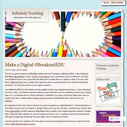 Make a Digital #BreakoutEDU