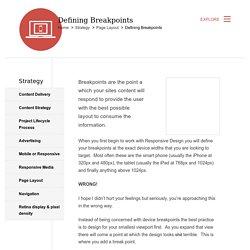 Defining Breakpoints
