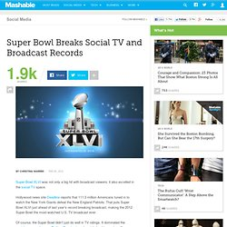 Super Bowl Breaks Social TV and Broadcast Records