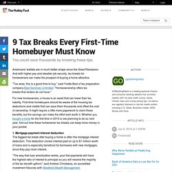 9 Tax Breaks Every First-Time Homebuyer Must Know