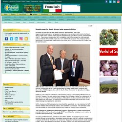 Breakthrough for South African table grapes in China