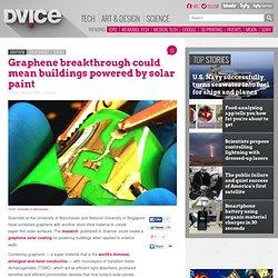 Graphene breakthrough could create solar paint