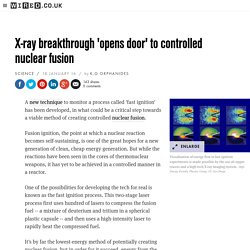 X-ray breakthrough 'opens door' to controlled nuclear fusion