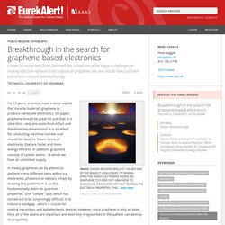 Breakthrough in the search for graphene-based electronics