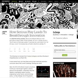 How Serious Play Leads To Breakthrough Innovation | Co.Design | business + design