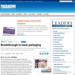 Breakthrough in meat packaging