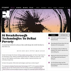 51 Breakthrough Technologies To Defeat Poverty