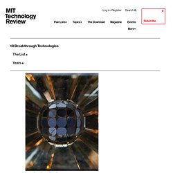 Hot Solar Cells: 10 Breakthrough Technologies 2017 - MIT Technology Review