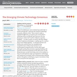 The Emerging Climate Technology Consensus