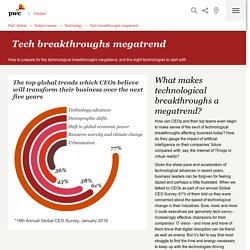 Tech breakthroughs megatrend: Technology: PwC