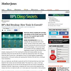 BP's Bad Breakup: How Toxic Is Corexit?