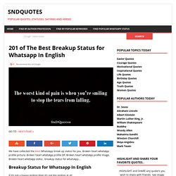 201 of The Best Breakup Status for Whatsapp In English