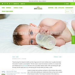 How to wean from breast to bottle - My Organic Company
