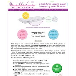 Breast milk freezer trays by Sensible Lines,LLC