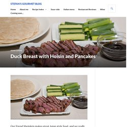 Duck Breast with Hoisin and Pancakes – Stefan's Gourmet Blog
