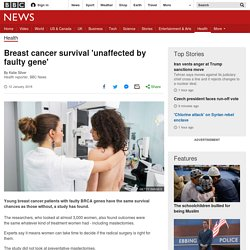 Breast cancer survival 'unaffected by faulty gene'