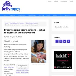 Breastfeeding your newborn — what to expect in the early weeks