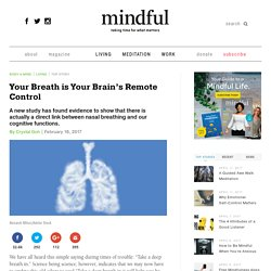 Your Breath is Your Brain's Remote Control
