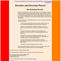 Breath and Develop Power